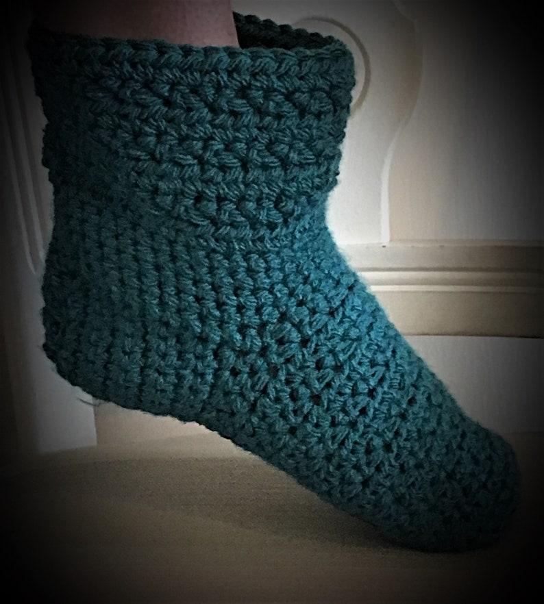 9fccb268267bd Chunky crochet slipper socks (with non-slip adhesive) bed socks comfy warm  snuggle time socks, winter socks,