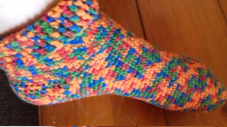 5176eb61f0ce1 Handmade COLOUR POP Crochet Socks, Wool Socks, ankle socks, slipper socks,  bed socks