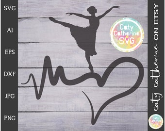 Heartbeat Love Dance SVG Cut File // Sports Leisure // File for Cricut // Commercial Use // Caty Catherine