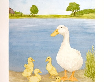 Mother and Ducklings Print