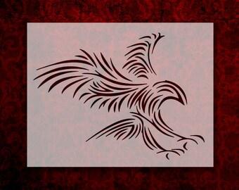 522533de2 Tribal Eagle Landing Stencil Multiple Sizes FAST FREE SHIPPING (599)
