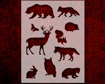 Bear Standing Animal A4 Mylar Reusable Stencil Airbrush Painting Art Craft