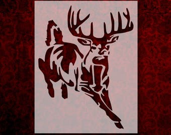 photo about Deer Stencil Printable named Deer stencil Etsy