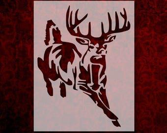 photograph regarding Deer Stencil Printable named Deer stencil Etsy