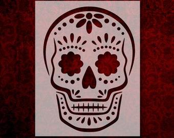 a9fe4c68 Sugar Skull Day Of The Dead Dia De Muertos Stencil Multiple Sizes FAST FREE  SHIPPING (591)