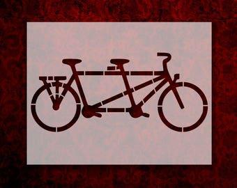 "Tandem Bicycle Bike 11"" x 8.5"" Custom Stencil Fast Free Shipping (10)"