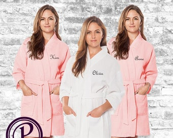 109198ec48 Blush waffle robes