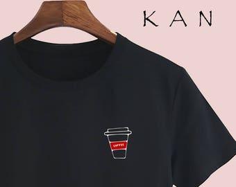 8e39d9e4a Small logo coffee Unisex T shirt T Shirts For Men T Shirts For Women mens t  shirt women t shirts design t shirt Customize Gift T Shirt