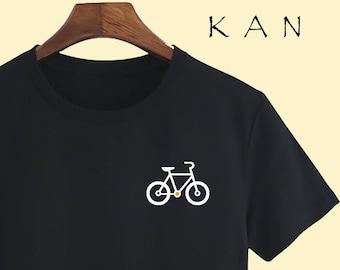 Bicycle Unisex T shirt T Shirts For Men T Shirts For Women T Shirt For Youth Street T-shirts Hipster T Shirt Customize Gift T Shirt