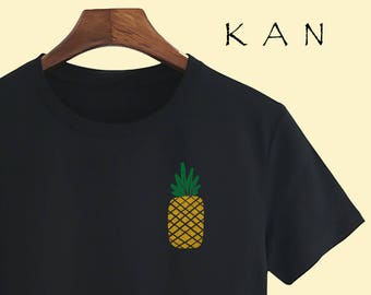 Golden Pineapple Unisex T shirt T Shirts For Men T Shirts For Women T Shirt For Youth Street T-shirts Hipster T Shirt gift T-shirts