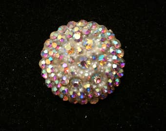 Vintage Early Celluloid AB Brooch