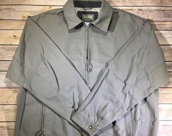 Vintage Columbia Authentic Active Outdoor Wear Jacket Men's Large Size Casual Outerwear Olive Green Color Full Zip