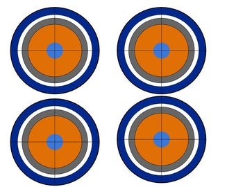 image about Nerf Gun Targets Printable known as Nerf gun concentration Etsy
