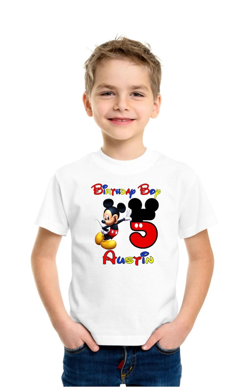 Birthday Shirt Mickey Mouse Pick Your