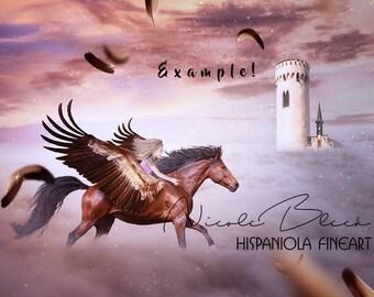 Pegasus Overlay Photo Overlay Flying Horse Overlay Etsy