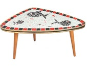 rare mosaic kidney table from the 1950s 60s Vintage Mid Century