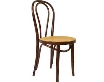 Vintage coffee house chair with Viennese braid from the 1960s
