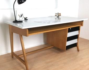 Architekten Schreibtisch Von Leuwico Aus Den 1960er Jahren Mid Century  Vintage