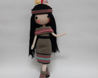 Crochet garage, Crochet doll pattern / Amigurumi doll pattern - ADREA