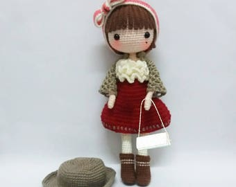 Crochet garage, Crochet doll pattern / Amigurumi doll pattern - PETUNIA