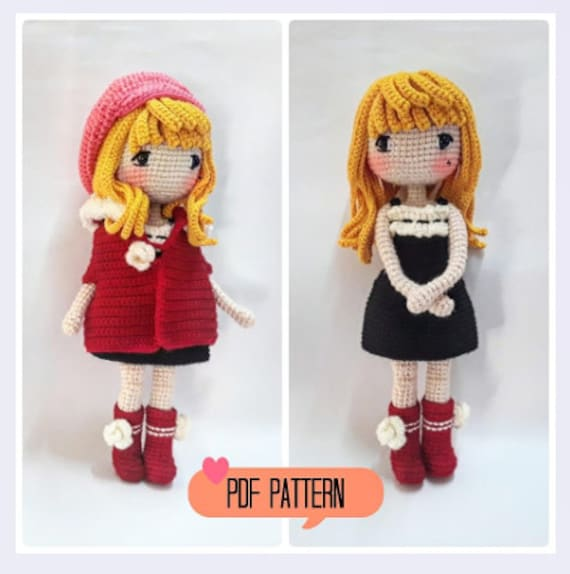 Amigurumi Doll Girl Crochet Free Patterns - Crochet & Knitting | 574x570