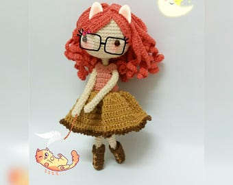 Crochet garage, Crochet Doll Pattern / Amigurumi doll pattern - Hannah