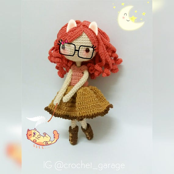 Crochet Garage Crochet Doll Pattern Amigurumi Doll Pattern Etsy Interesting Amigurumi Doll Pattern