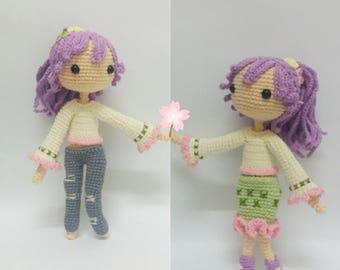 Crochet garage, Crochet Doll Pattern / Amigurumi doll pattern- April Blossom