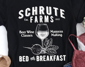 3b45384e6 Schrute Farms T-Shirt, Funny TV Show Parody Shirt, Fanart, Ladies or Unisex  Shirt, The Office Tee, Hoodie, Crewneck Sweatshirt SH-76