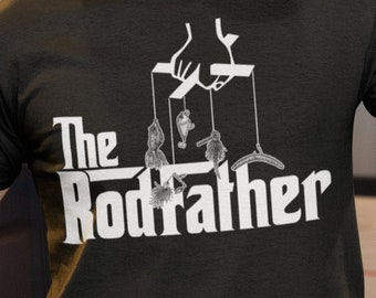 6e87fd578 The RodFather Rod Father - Fishing Dad Father's Day Gift T-shirt | Birthday  Gift for Dad | Camping Cottage Weekend sh-81