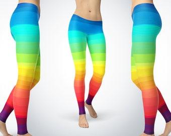 db1899bcda3e3 Rainbow Leggings | Cute Rainbow Ombre Leggings | Leggings, Capris, Yoga  Pants