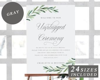 Unplugged Wedding Etsy