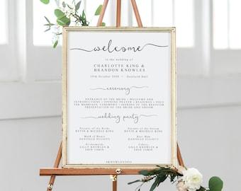 editable ceremony program template order of service wedding etsy