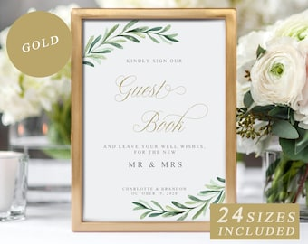 guest book template etsy