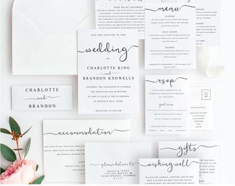 ultimate diy wedding invite template bundle of 10 different designs home print wedding invitation template wedding suite instant download