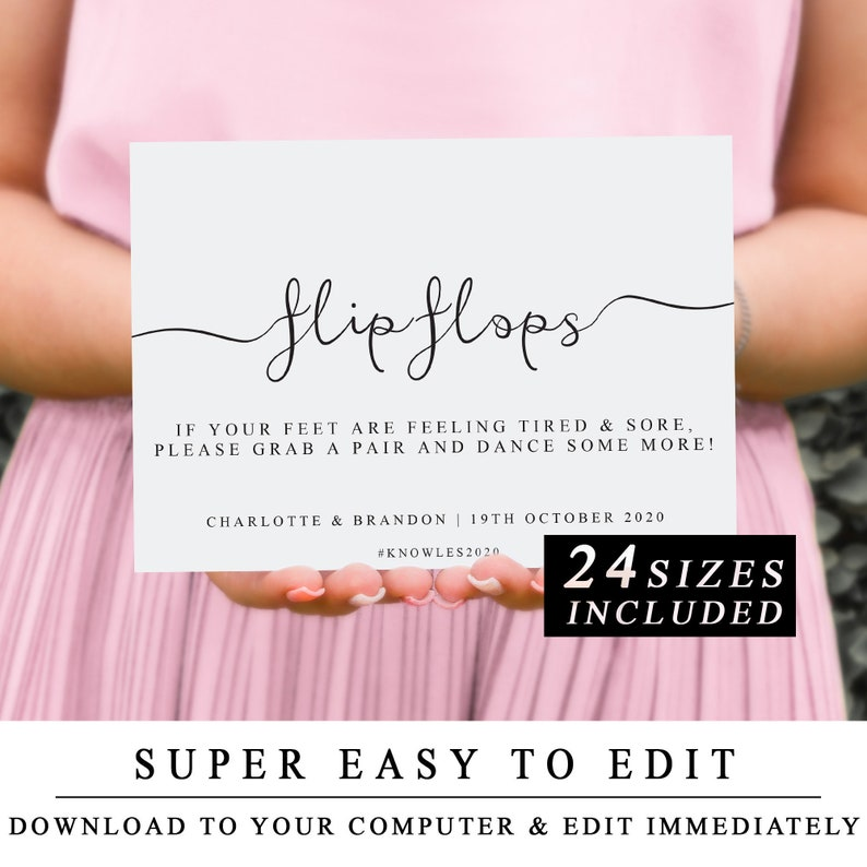 picture relating to Printable Flip Flop Template named Do it yourself Printable Wedding ceremony Indication, Wedding ceremony Change Flops Signal, Transform Flops Indication, Printable Convert Flops Signal Template, The A single, Quick Down load
