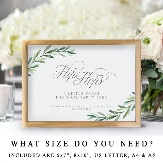 7570d3461a4e5b Flip Flops Wedding Sign