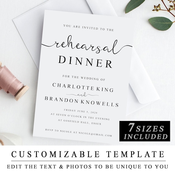 photograph relating to Printable Rehearsal Dinner Invitations referred to as Printable Rehearsal Meal Invitation Template, The Evening Right before Invitation, Rehearsal Diner Invite Card, Pre Marriage ceremony Bash Invitation