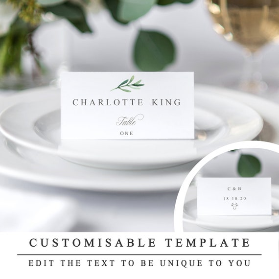wedding place cards templates
