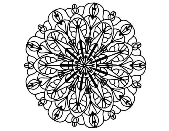 Mandala Coloring Page For Adult Relaxation Mandala Design Eye ... | 441x570