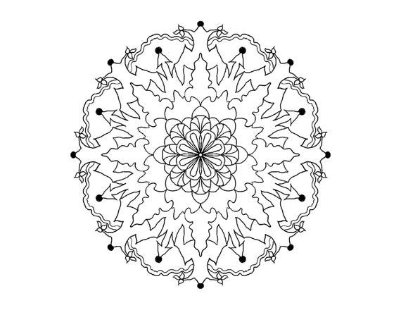 Mandala Simple Design Coloring Page