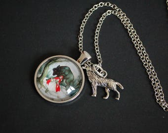 Little Red Riding Hood and the Wolf necklace