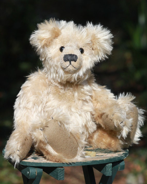 Marlowe gedruckt traditionelle Mohair Teddybär Schnittmuster   Etsy