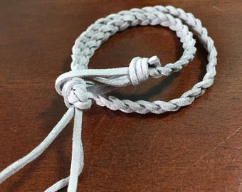Braided suede double wrap essential oil diffuser bracelet!