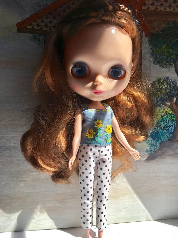 "Takara 12/""Blythe Doll Retro Mini Skirt Outfit white 1 pcs free shipping SALE"