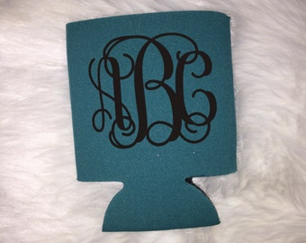 Monogrammed Koozie, Monogram Drink Holder, Foam Can Cover, Drink Cover, Personalized Gift, Monogram Gift, Monogram Accesory