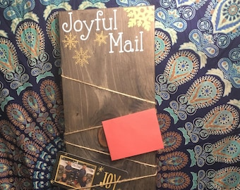 Mail Card Display - Wood sign