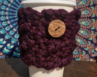 Mug Cozy - Dark Purple Sparkle