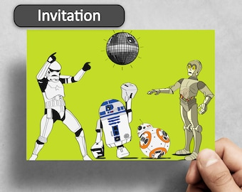 Pack of 150 - Invitations - invites - party star wars theme dress up birthday wedding 21st 30th 40th birthday bash funny invitation