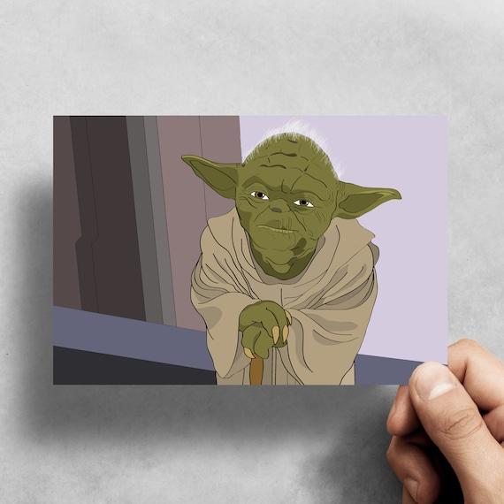 Yoda Star Wars Greeting Card Birthday Celebration Pop